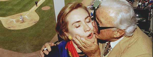 Harry Caray and Hillary Clinton