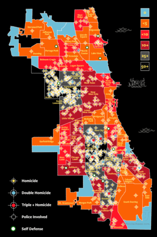 2016 Chicago Homicide City Map