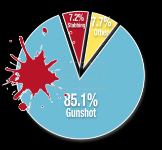 Chicago homicides by cause of death 2014