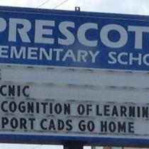 Prescott Elementary Signage