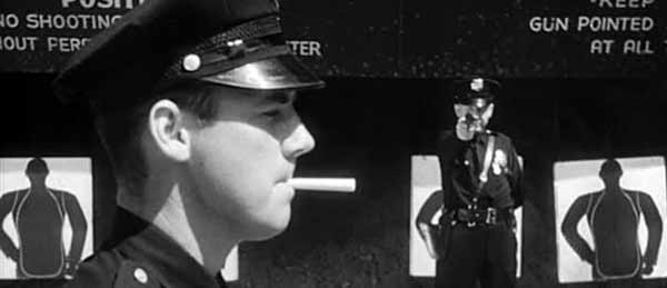 Police Shooting Cigarette