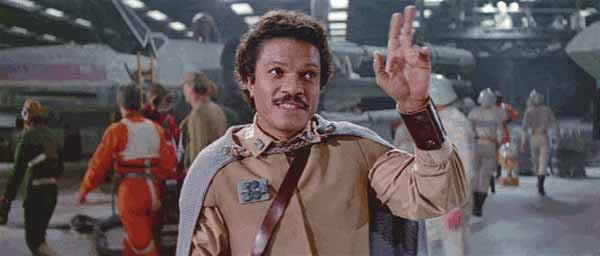Lando waving goodbye