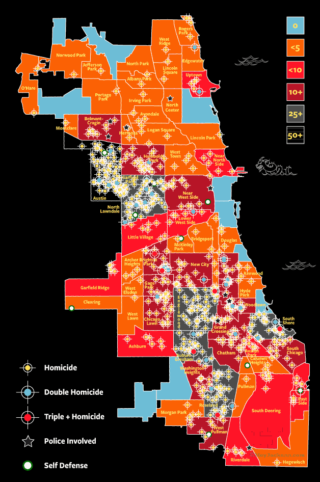 2017 Chicago Homicide Map