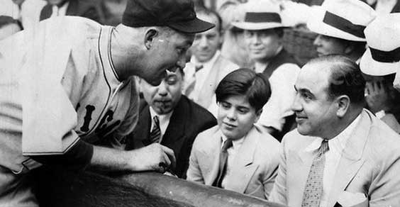 Gabby Harnett of the Cubs and Al Capone