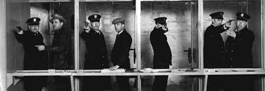 Police firing line