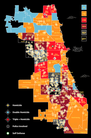 2018 Chicago homicide map