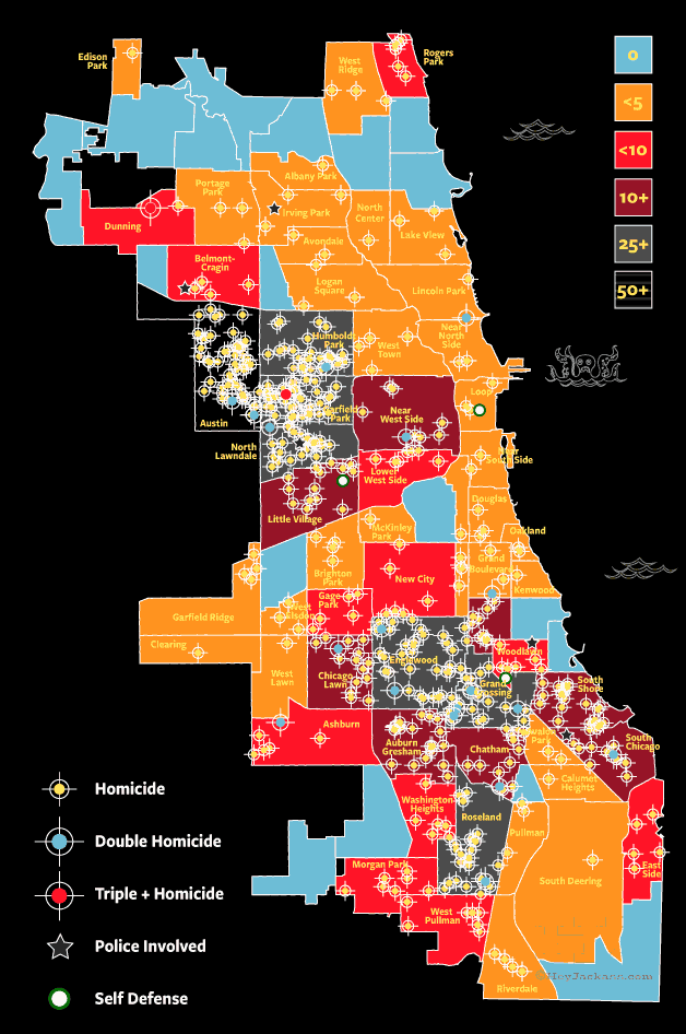 Chicago homicide & murder map