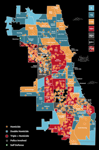 Chicago homicide & murder map