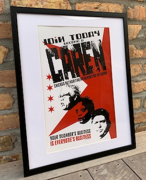 CAREN framed